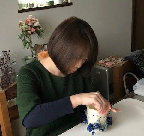花キャンドル制作体験